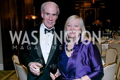 Peter McDevitt, Greta Mulhall. Photo by Tony Powell. The Roman Gala. Army Navy Club. March 9, 2020