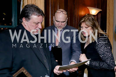 Dr. Pat Kinkade, Timothy Schmaiz, Deborah Stone. Photo by Tony Powell. The Roman Gala. Army Navy Club. March 9, 2020