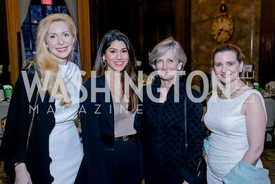 Alexandra Senyi, Daana Al-Mulla, Suzanne Nicholson, Emer Rocke. Photo by Tony Powell. The Roman Gala. Army Navy Club. March 9, 2020