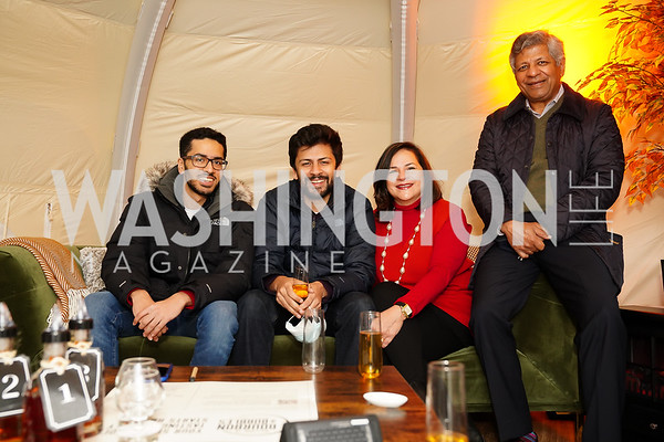 "Mihir, Anant, Alia and Sudhakar Kesavan. Photo by Tony Powell. Wolf Trap ""Bourbon in Bubbles."" November 12, 2020"