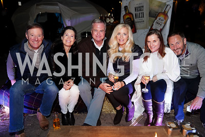 "David Samuels, Tenley Carp, Steve Buckhantz, Shelley Lawrence, Beth and Christer Johnson. Photo by Tony Powell. Wolf Trap ""Bourbon in Bubbles."" November 12, 2020"
