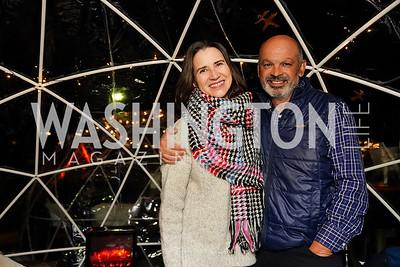 """Linda and Enrico Della Corna. Photo by Tony Powell. Wolf Trap """"Bourbon in Bubbles."""" November 12, 2020"""