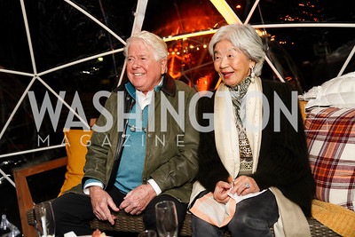 "Bob and Sats Young. Photo by Tony Powell. Wolf Trap ""Bourbon in Bubbles."" November 12, 2020"