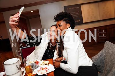 """Sara Jaffe, Joy Kingsley-Ibeh. Photo by Tony Powell. Wolf Trap """"Bourbon in Bubbles."""" November 12, 2020"""