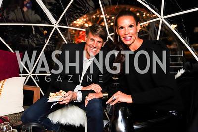"""Mark and Megan Frantz. Photo by Tony Powell. Wolf Trap """"Bourbon in Bubbles."""" November 12, 2020"""