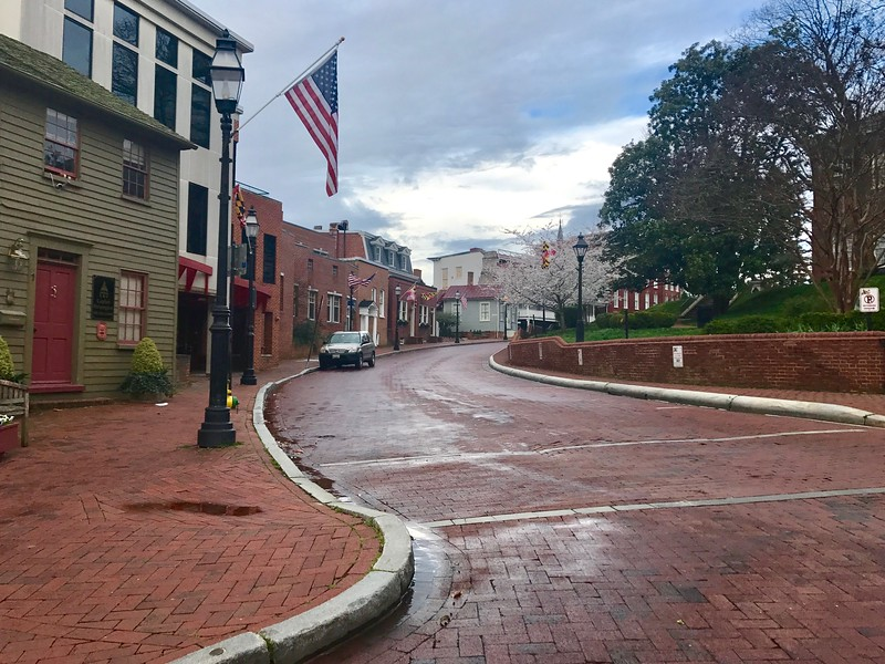 Empty Streets, State Circle Annapolis Md