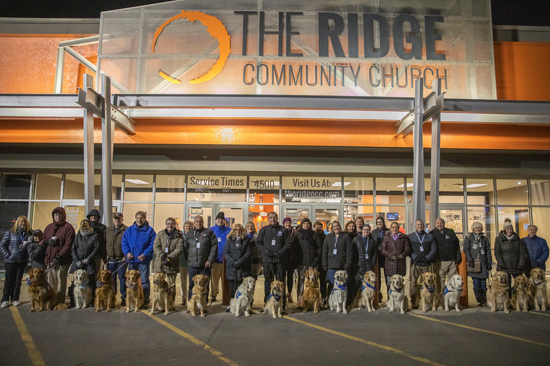LCC K-9 Comfort Dogs at Ridge Community Church community vigil being present for those affected by the Molson Coors-Milwaukee, WI Shooting