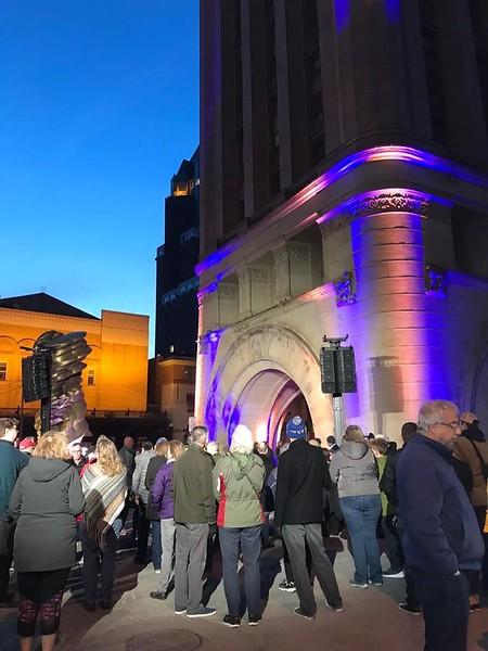 Prayer vigil at Milwaukee City Hall