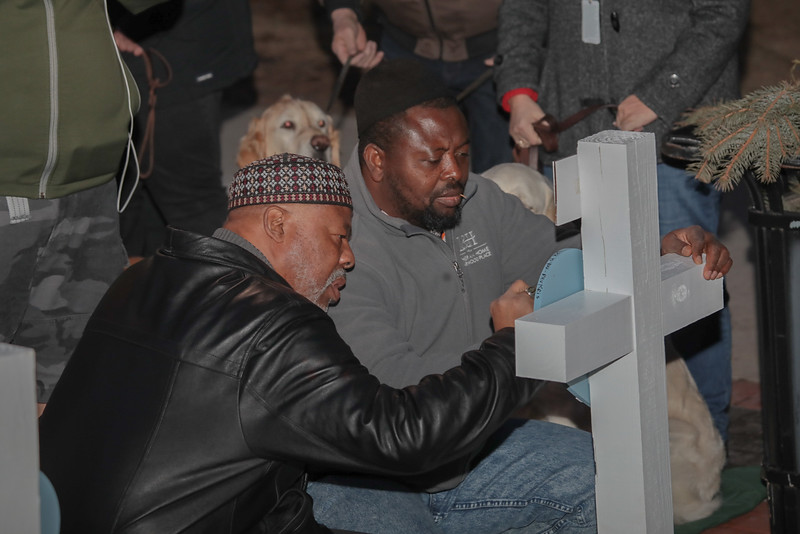 Hearts of Mercy & Compassion, Crosses for Losses at Milwaukee City Hall community vigil being present for those affected by the Molson Coors-Milwaukee, WI Shooting