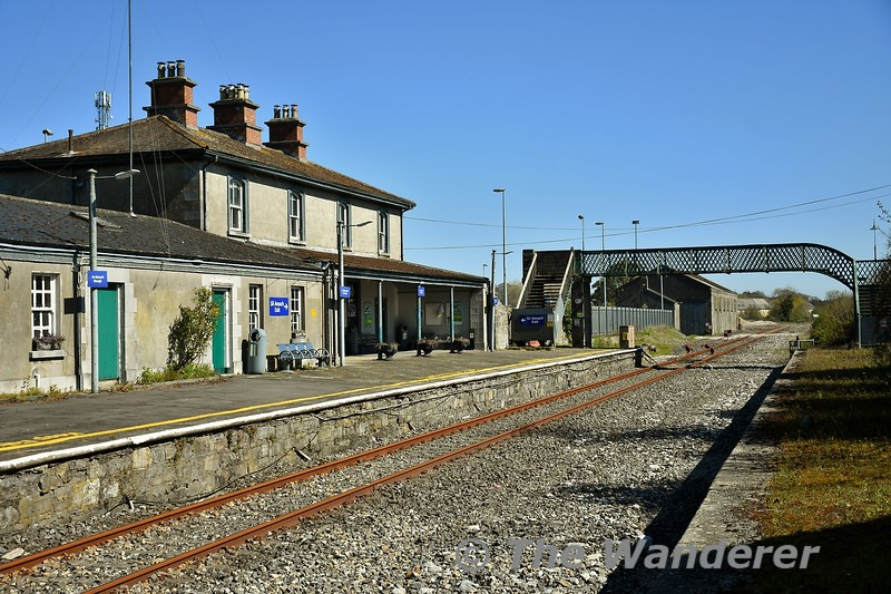Nenagh Station. The disused platform was taken out of use in 1989. Wed 15.04.20<br /> <br /> NOTE: Pictures were taken while walking to a convenience store to purchase essential items and I also abided to the 2km daily exercise limit imposed by the Government of Ireland.