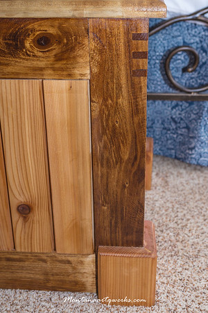 Blanket Chest: Birch frame, Cedar Slats, Cedar Splines