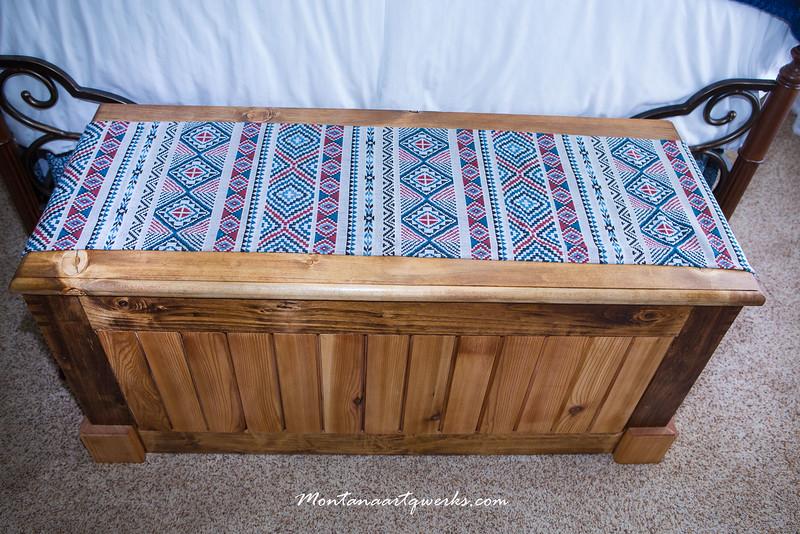 Blanket Chest: Birch frame, Cedar Slats, Spruce lid