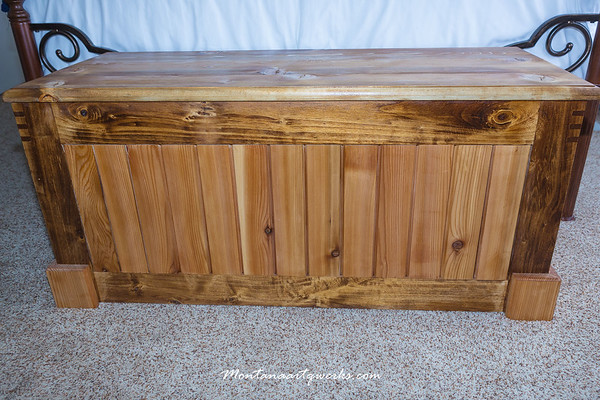 Blanket Chest: Birch frame, Cedar Slats, Spruce lid