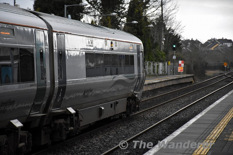 Signal CY109 has just cleared to allow the 1625 Portlaoise - Heuston to depart formed of 22004. Tues 18.02.20