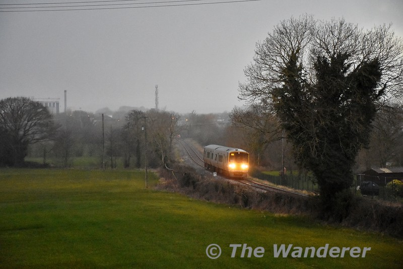 2813 + 2814 pass Lisboney outside Nenagh with the 1655 Limerick - Ballybrophy. Thurs 20.02.20