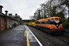073 at Roscrea Loop with the 0825 Limerick - Ballybrophy Sperry Train. The train would cross the 1005 Ballybrophy - Limerick here. Fri 21.02.20