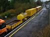 LP Bogie Flat 30156 at Cloughjordan in the formation of the 0825 Limerick - Ballybrophy Sperry Train. Fri 21.02.20