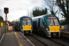 22032 and 22009 pass each other at Portlaoise. 22032 was departing on the 1425 to Heuston while 22009 was terminating on the 1320 from Heuston. Fri 03.01.20