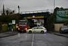 Mountrath Road Bridge (UBC146) bridge strike in Portlaoise. Gardai blocking the Mountrath Road. Thurs 02.01.20