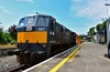 081 waits to depart from Nenagh with the relay train for relaying works between the 26MP and 28MP. Tues 02.06.20