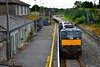 The relay train is propelled by 085 into the yard at Nenagh. Wed 03.06.20