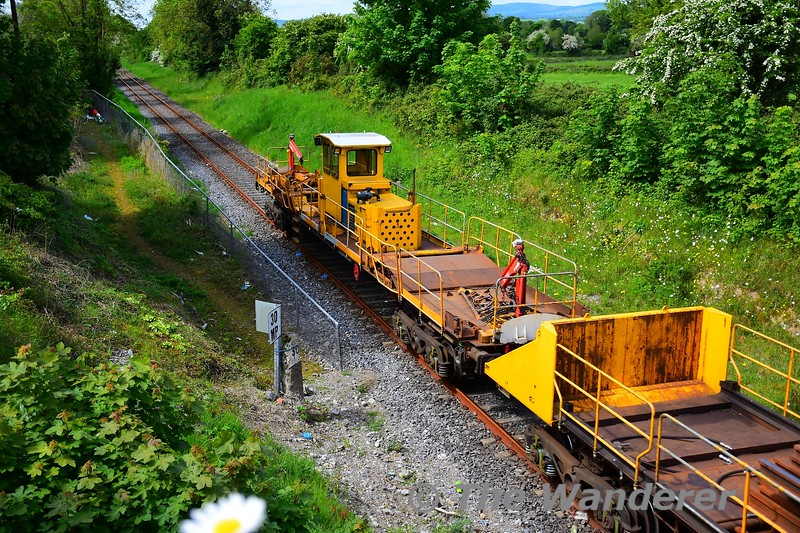 Close up details of the CWR Train at Knockanpierce, Nenagh. Tues 19.05.20