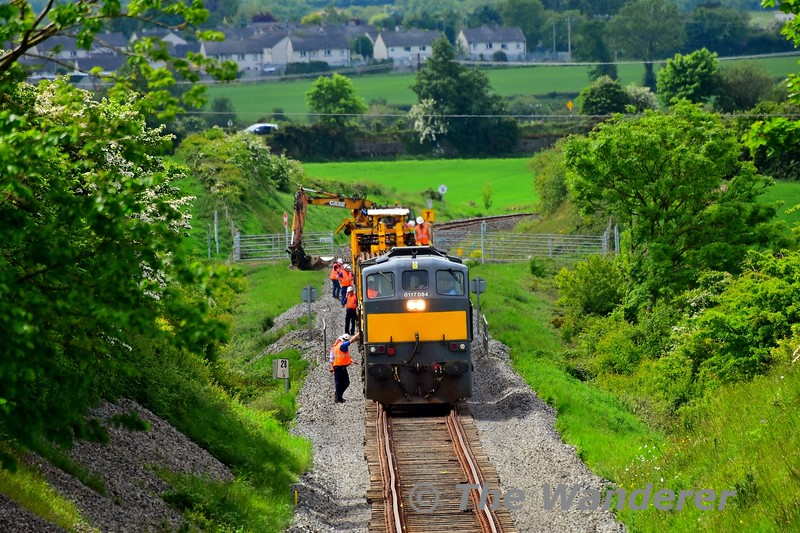 Preparing to drop the rails which would take over 2 hours to complete. Tues 19.05.20
