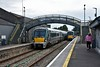 22054 + 22025 arrive at Roscommon with the slightly late 1245 Heuston - Westport service. Mon 14.09.20