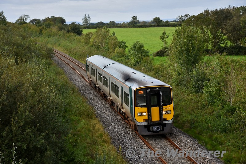 Following vandalism to a 3ICR set in Limerick on Tuesday evening, the set had to return to Laois Depot for repairs on the Wednesday. Limerick covered the shortage with a 2800 set in the morning but as a set needed to be sent to Ballina for a swap out the only thing Limerick had left was 2614 + 2617 which was just released off an exam and awaiting transfer to Cork. It was placed into service with the 1150 Limerick - Limerick Jct. and it is pictured passing Woodfarm later in the day with the 1550 Limerick - Limerick Jct.  Wed 09.09.20