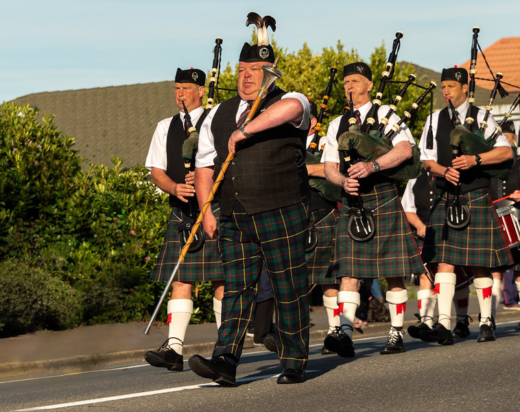 Merit, Anna Stewart - Pipe Major leads Parade
