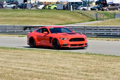 2020 SCCA TNiA July 29 Pitt Race Adv Orange Mustang
