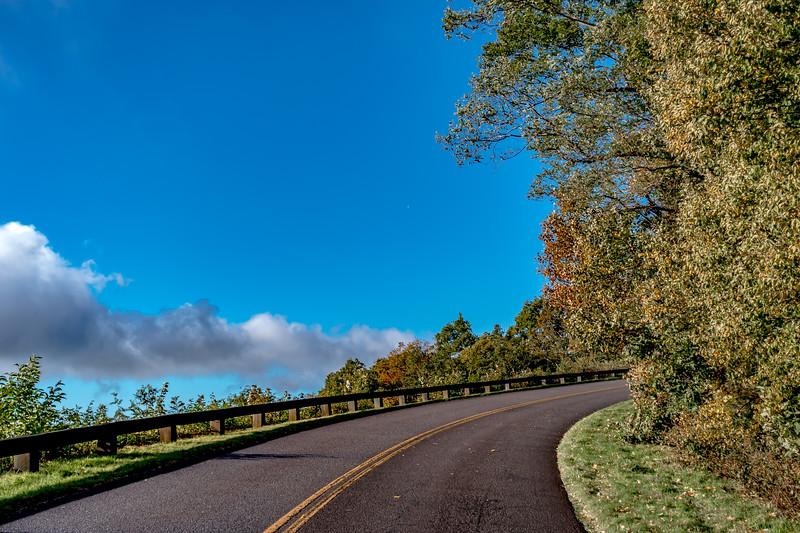 autumn season in apalachin mountains on blue ridge parkway