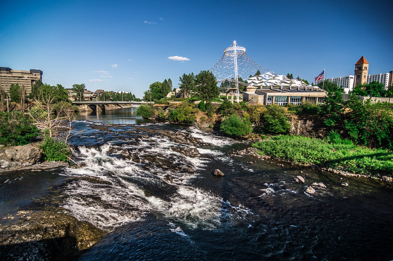 spokane washington downtown and street scenes