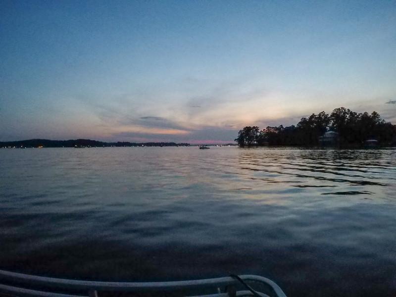 beautiful scenes on lake wateree in south carolina