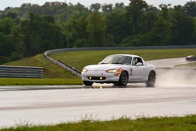 2020 SCCA TNiA Sept2 Pitt Race Nov White Miata BandAids