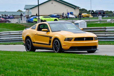 2020 SCCA TNiA Sept 30 Pitt Race Int Orange Boss Mustang