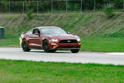 2020 SCCA TNiA Sept 30 Pitt Race Burgandy Mustang