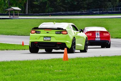 2020 SCCA TNiA Sept 30 Pitt Race Green Lime Camaro