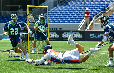 July 18, 2020 Annapolis, MD - Navy-Marine Corps Memorial Stadium Philadelphia Barrage vs Chesapeake Bayhawks. Photography Credit: Alex McIntyre