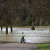Shrewsbury floods around midday on 24th Feb 2020.<br /> Quarry Park.