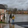 Shrewsbury floods around midday on 24th Feb 2020.<br /> Wyle Cop NCP