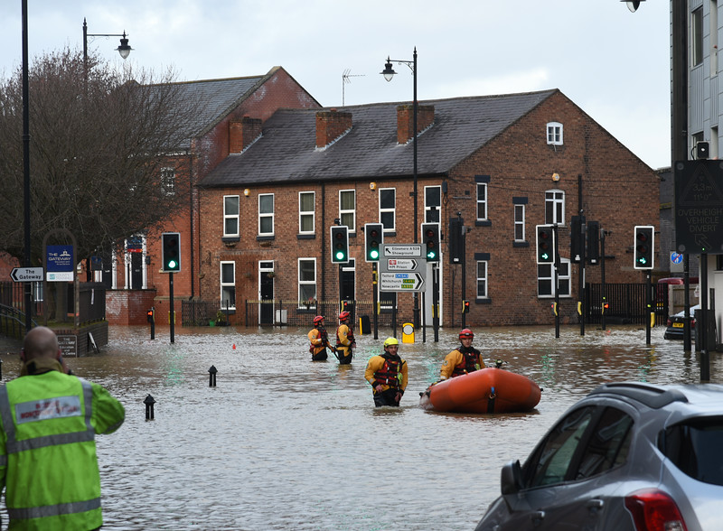 Emergency services at Chester St, Shrewsbury 4pm. 17-2-20.