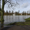 Shrewsbury floods around midday on 24th Feb 2020.<br /> The Quarry.