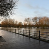 The river Severn at Coton Hill as of 8am, 17-2-20.