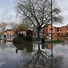 Shrewsbury floods around midday on 24th Feb 2020.<br /> The bus station.