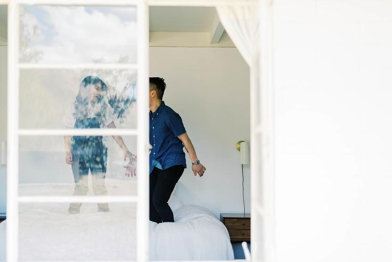 Fun at home session - Southern California lifestyle session at a modern, desert, boho home in Joshua Tree - Kristen Krehbiel - Kristen Kay Photography | #athome #travel #modern #couple