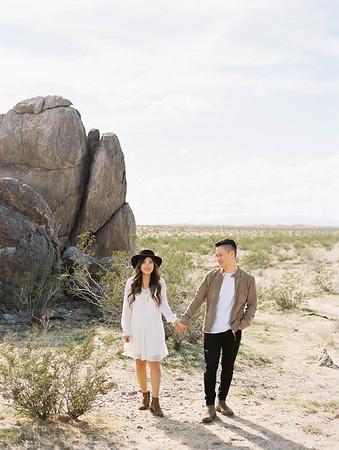 Southern California, Joshua Tree couples photo shoot - Kristen Krehbiel - Kristen Kay Photography | Monochromatic and earth toned outfits | #travel #joshuatree #desert #boho