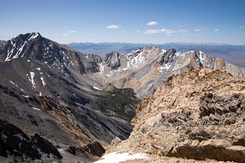 View from Mt Borah (ID)