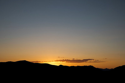 Sunset from the base of Mt Borah (ID)