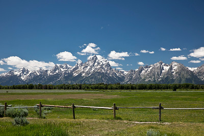 Driving by the Tetons (WY)